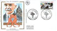 FDC - FRANCE 2889 - COUBERTIN - CENTENAIRE DU C.I.O.