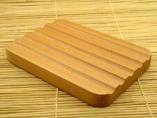 Beautifully Cut Natural Wood Soap Dish