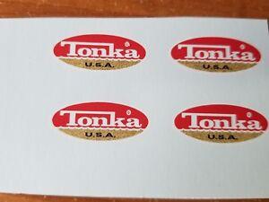 TONKA TRUCK OVAL MINI LOGO DECALS 1970-1973
