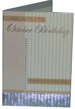 FOILED BIRTHDAY GREETING CARD - OCTOBER - THE MONTH YOU WERE BORN