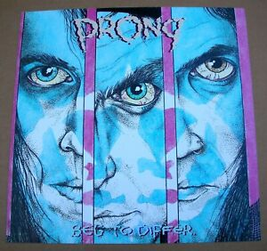 PRONG Beg To Differ 2 Sided Promo 12x12 Poster Flat 1989 Mint-