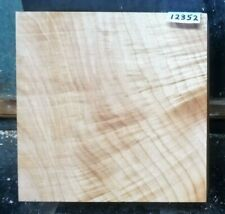 Figured Maple Lathe Wood Special 12352 One Turning Blank 9 x 9 x 3.375