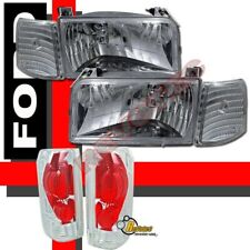 92-96 Ford F-150 F250 Bronco Headlights Corner Signal & Tail Lights Set