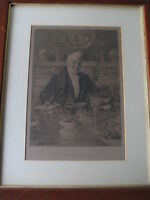 "Vintage Walter Dendy Sadler ""My Love To You"" Etching Print, Etched W.H. Boucher"