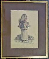 Lithografie Carle Vernet (1758-1836) Marchande de Balais / N°48 Besenhändlerin