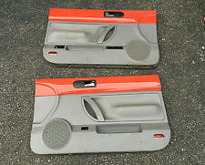 98-10 VW Volkswagen Beetle Convertible Left Right Door Panels SET Orange / gray