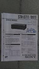 Sony str-d711 d911 service manual original repair book stereo receiver radio
