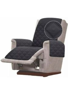 Oversized Recliner Chair Cover Double Diamond Quilted Reversible
