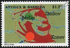 WWII 1945 Fall of Berlin - Russian/Soviet Battle Plan Map (Zhukov/Konev) Stamp