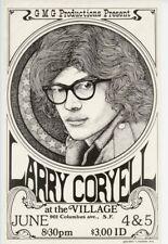 Larry Coryell 1973 Original Jazz Concert Poster 11x17 San Francisco Fusion  XL13