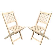 2Pcs Wooden Folding Chair Outdoor/Indoor Garden Wood Slat Seat Deck Furniture