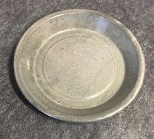 "Rare Vintage GREY EXTRA-AGATE ENAMELWARE Plate 8-7/8"" Very Good"