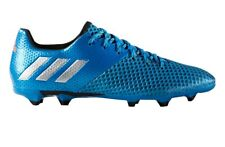 Men's Adidas Messi Football Soccer Boots, Shoes Trainers Moulded Studs - Blue