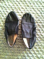 Leather Jazz Shoe Slip On for Child  Black AU SELLER