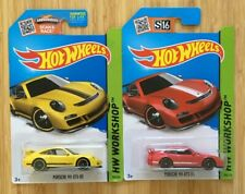 2015 Hot Wheels PORSCHE 911 GT3 RS Red and Yellow Set