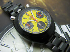 RARE CITIZEN BULLHEAD CHRONOGRAPH AUTOMATIC MINT YELLOW DIAL MODIFY MOD 2