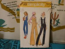 1973 Simplicity Vest bellbottom pants sewing pattern5799 16/38 bust