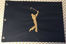 The Players Championship Navy Blue Undated Rare Golf  Flag Tiger Woods Sawgrass