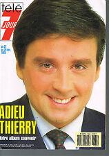 ▬►Télé 7 Jours 1382 de 1986 Thierry Le Luron_Hallyday_Goldman_Lucky Blondo