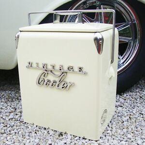 Vintage Kühler Kühlbox Creme Retro Coca Cola Coke Cool Hochzeitsgeschenk 79VC