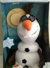 """NEW DISNEY  FROZEN OLAF Fully Animated Talk and Sing 11"""" NRFB"""