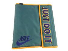 Nike JUST DO IT Mead 3 Ring Binder 1993 Green Gold School Notebook Sports Folder