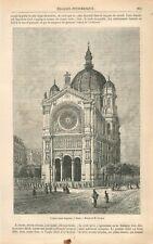 Berceau de Jacques Ier roi d'Angleterre/ Eglise Saint-Auguste Paris GRAVURE 1869