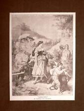 Dorotea o Dorothea Quadro di Wilhelm Von Kaulbach Stampa del 1888