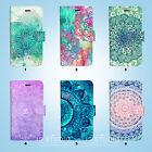 Mandala Pattern Wallet Case Cover Samsung Galaxy S3 4 5 6 7 Edge Note Plus 048