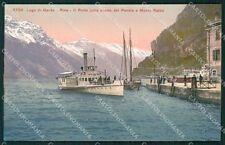 Trento Riva del Garda Lago di Strada del Ponale Monte Baldo Battello cartolina Q