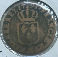 1791 MA France 1 One Sol - Louis XVI
