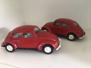 Vintage Lot of 2 1960s TONKA Volkswagen Beetle VW Bug Steel USA AS IS