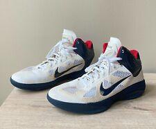 Nike Men's Nike Hyperfuse White Obsidian Red Size 13