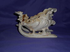 VINTAGE FLORENCE POTTERY PASADENA CA SWAN SLEIGH SLED PLANTER CANDY DISH