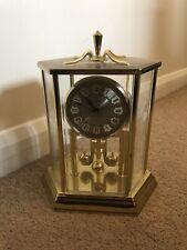 Vintage Kundo Brass & Glass German Anniversary Clock