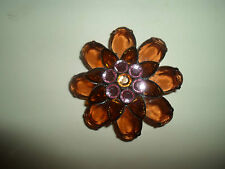 100% Retrò Kitsch FLOWER HEAD SHAPED Bling SPILLA BIGIOTTERIA # 10