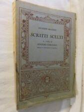 SCRITTI SCELTI Giuseppe Mazzini Adolfo Omodeo Mondadori 1934 libro di scritto da