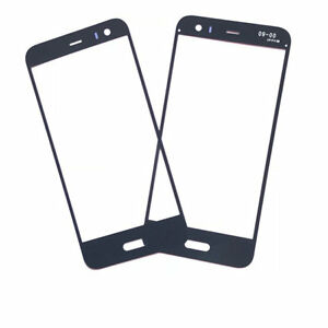 For HTC U11 Life u-1 Black Front Outer Screen Glass Lens Replacement