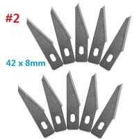 10pc #2 Replacement Hobby Classic Fine Point Blades high steel Craft Knife