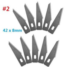 10pcs #2 Replacement Hobby Classic Fine Point Blades high steel Craft Knife