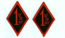 OUTLAW BIKER GANG HOG BIKER RIDER one-percenter BIKER iron-on 2-PATCH SET: 1%ER