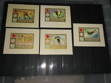 Chad 1972 Olympics Winter Games imperf  MICHEL 502-506 5MS