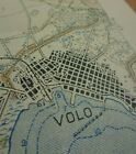 """WW1 Allied Map of GREECE entitled """"VOLO"""" (VOLOS) - August 1917 - Scale 1:50,000"""