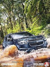 2015 2016 Holden Colorado 7 12-page Sales Brochure Catalog - Australia Chevrolet