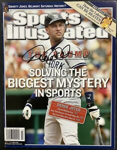 Derek Jeter Signed Sports Illustrated Magazine PSA/DNA Autograph HOF 2020 Mint