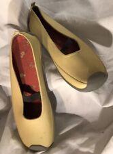 MID WEST Garden Wellies Rain Skimmer Mary Jane Shoes Women's Size 8 Yellow~N22