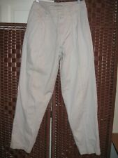 Marithe Francois Girbaud pleated pants 28 vintage tan chino 28X31 pleat 90s