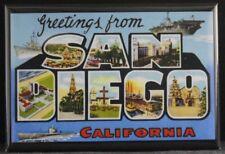 "Greetings From San Diego 2"" X 3"" Fridge Magnet. California"