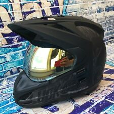 Icon Variant HARD LUCK Graphic Fiber Dual Sport Helmet Chrome Visor Size Large L
