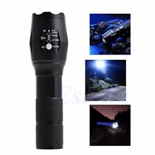 5 Modes 5000Lumen XML T6 LED Flashlight Torch Lamp Light 18650 Powerful Zoomable